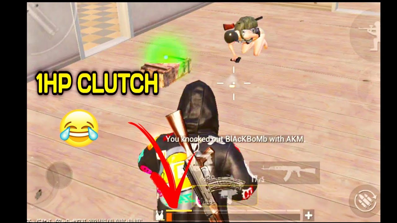 1Hp clutch pubg funny video shorts