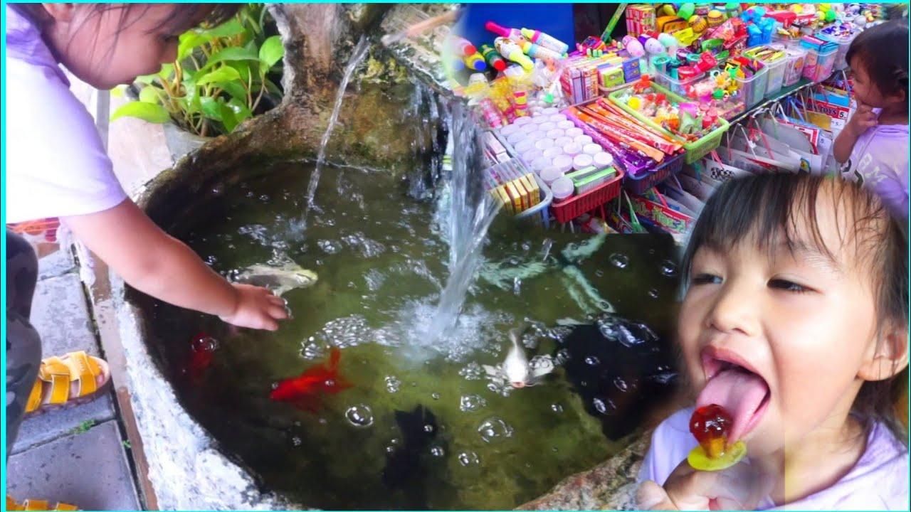 จับปลาทอง ซื้อขนม กินลูกอมแหวนเพชร💍 🔴Misol \u0026 Seal เล่นกับลูกTV
