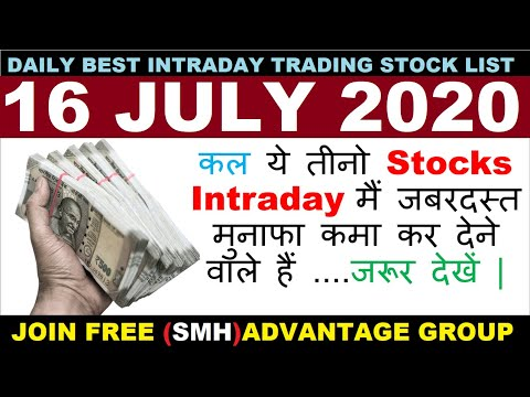 Best Intraday Trading Stocks for Tomorrow 16 JULY 2020|Intraday trading strategies|StockMarketHacks|