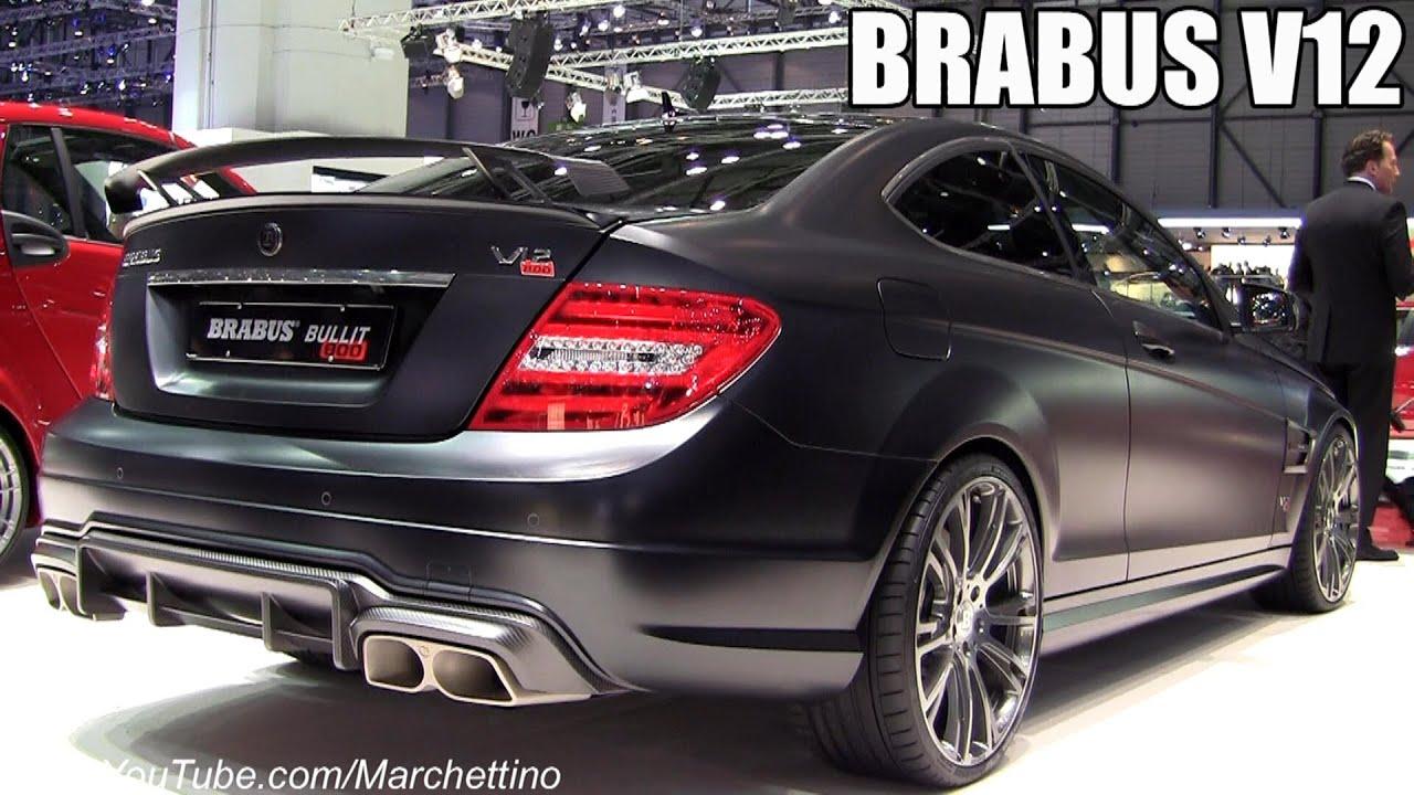 2013 Brabus Bullit Coup 232 800 V12 2012 Geneva Motor Show Youtube