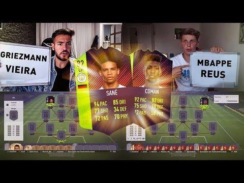 FIFA 18: DEUTSCHLAND vs FRANKREICH SQUAD BUILDER BATTLE 🤑😍Fifagaming vs Wakez😱