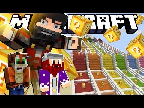 Minecraft Lucky Block Race!! - #تحدي_سباق_اللكي_بلوك مع عمر و سوما