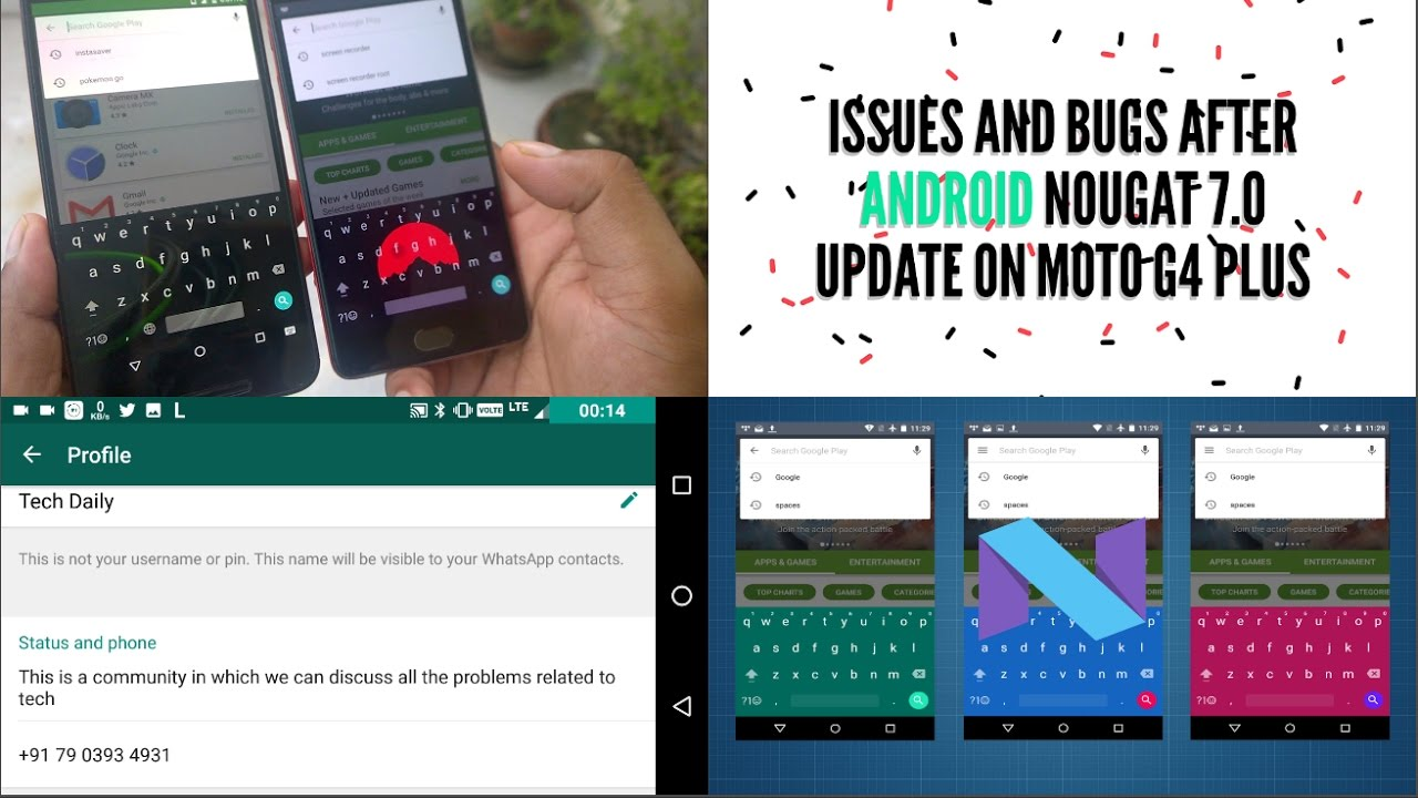 Issues and Bugs After Android Nougat 7.0 Update on Moto G4 ...