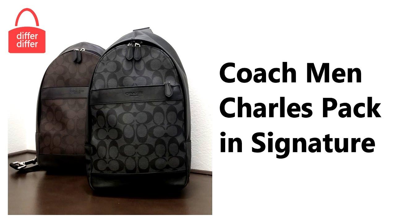 e7fd12e797e5 Coach Men Charles Pack in Signature 54787 - YouTube