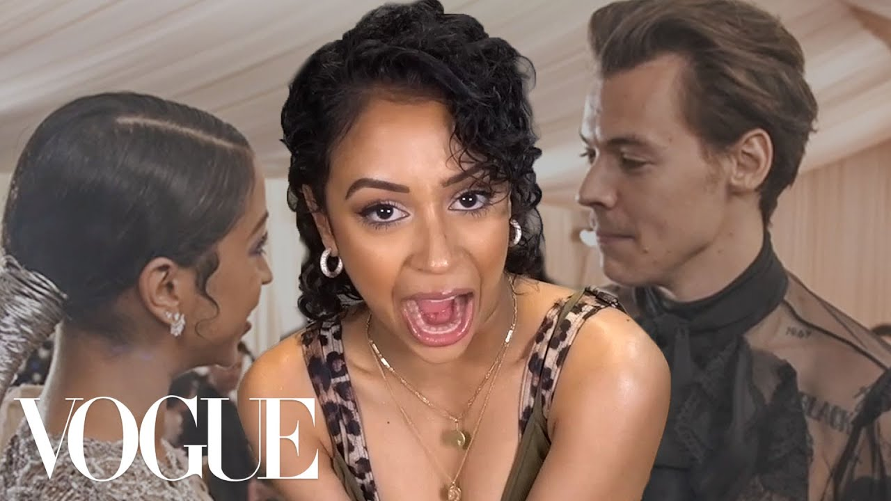 Liza Koshy Reacts to Her Met Gala Videos (Harry Styles, Hailey Bieber and more) | Vogue