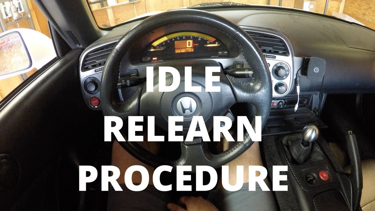 hight resolution of idle relearn procedure honda s2000