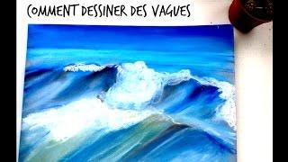 Comment je dessine des vagues// waves~ bulles d'art