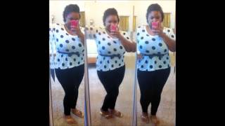 CASUAL PLUS SIZE POLKA DOT OOTD
