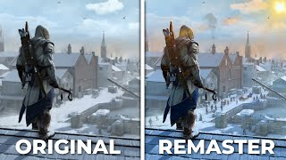 Assassin's Creed 3: Remastered VS Original - Side by Side Comparison   Graphics