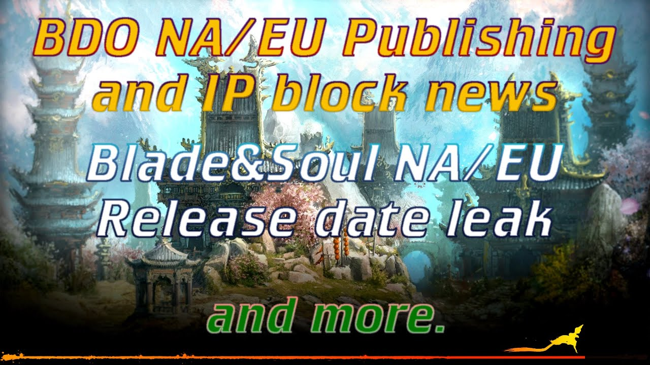 Blade and soul na release date in Australia