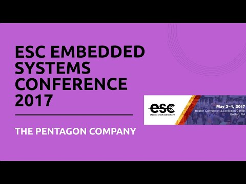 ESC Embedded Systems Conference 2017 - The Pentagon Company