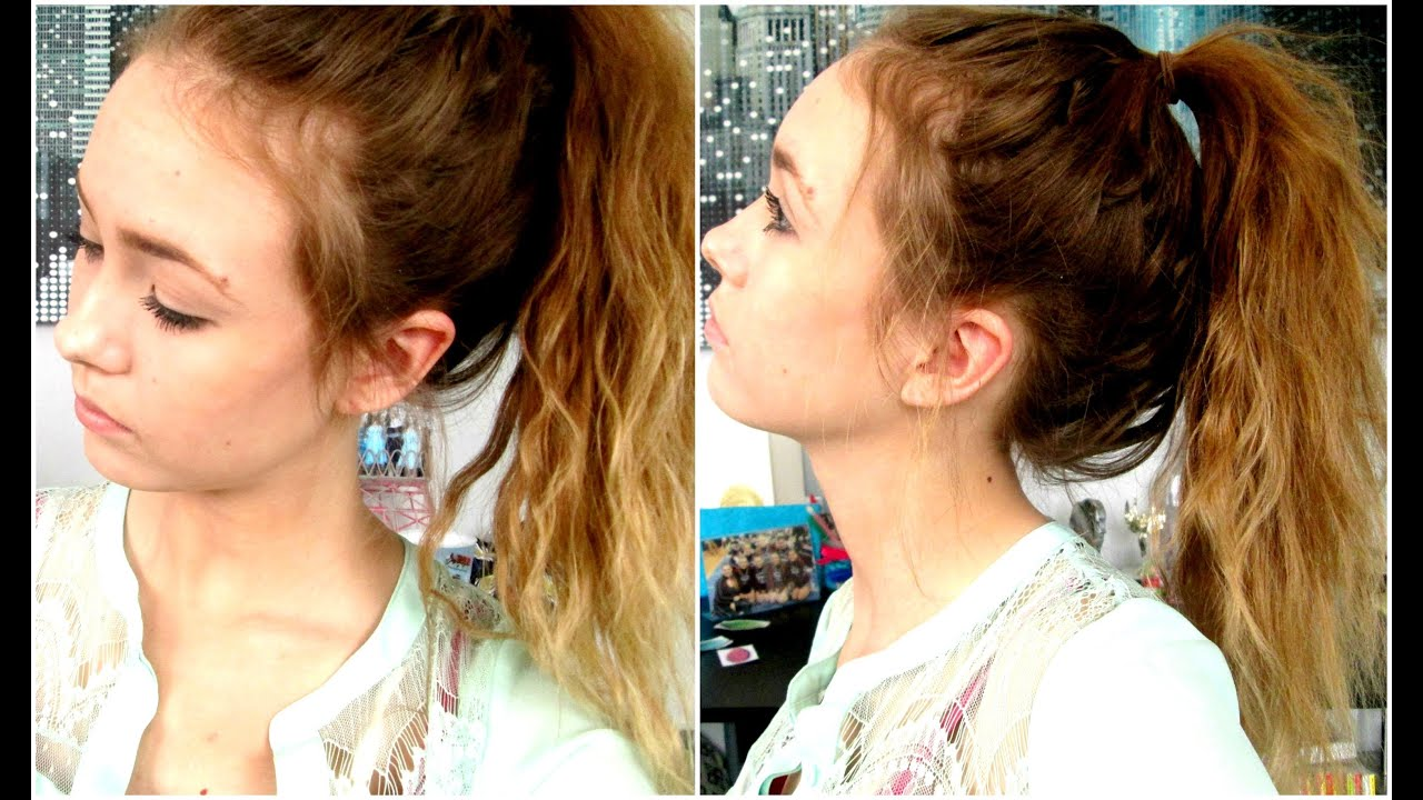 how to: create a messy high ponytail! - youtube