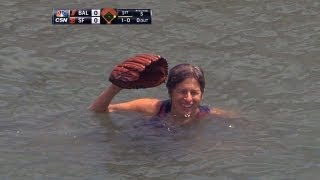 Fan accidentally falls into McCovey Cove