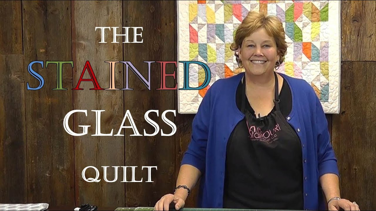 The Stained Glass Quilt Tutorial - YouTube : stained glass window quilt pattern - Adamdwight.com