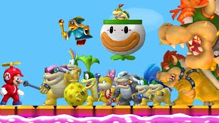 Repeat youtube video New Super Mario Bros. Wii - All Boss Fights (All Tower, Castle & Airship Bosses) + Final Boss/Ending