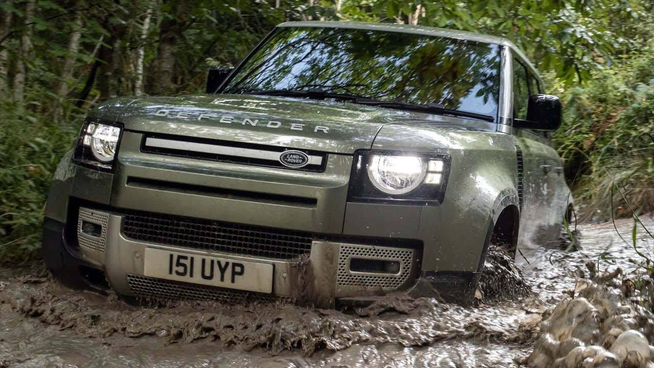 2021 Land Rover Defender 110 PHEV - Off Raod Driving - YouTube