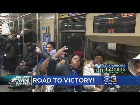 Ukee Washington Leads Eagles Fight Song On Train
