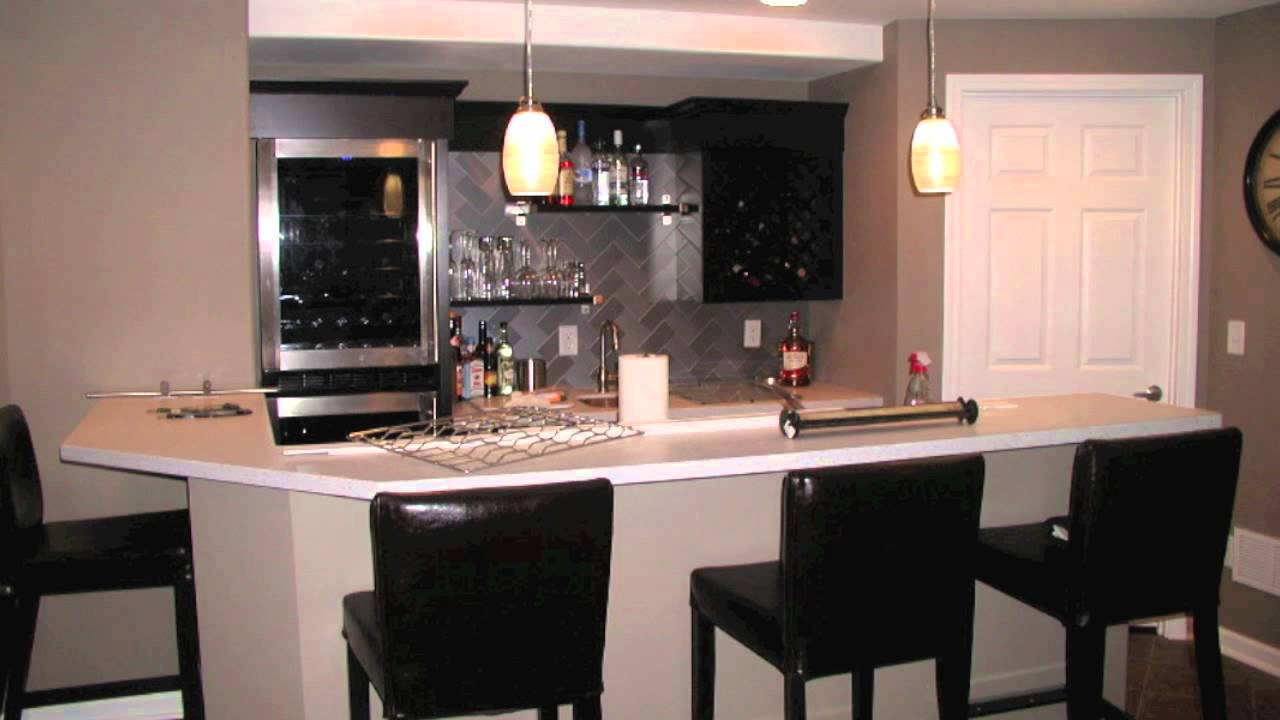 Elegant St. Louis Finished Basements Wet Bar Design   YouTube