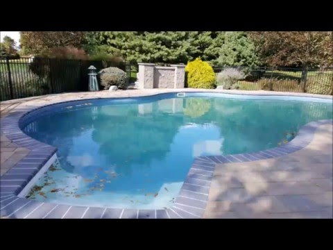 Liner Pool Renovation, Paver Installation, Pool Coping, Patio   Neshanic  Station NJ   YouTube