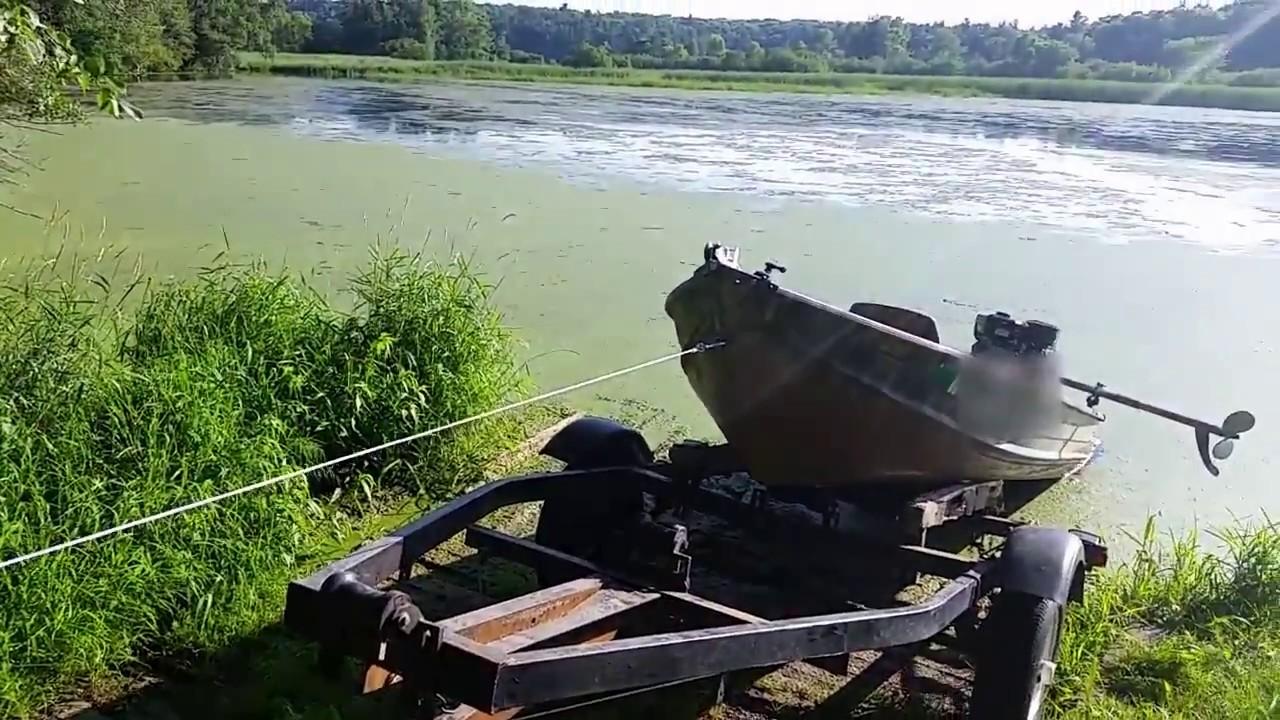 Harbor Freight wireless ATV winch as boat winch