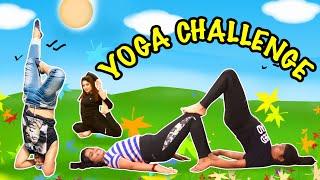 YOGA CHALLENGE Anu Ayu Vs Mom Dad l  #Funny Family Challenge l Ayu And Anu Twin Sisters