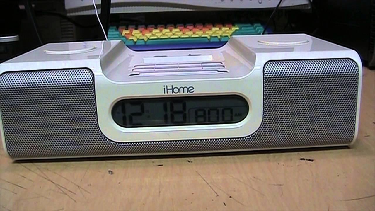 iHome - Not iCrap - iH5 clock radio/iPod dock