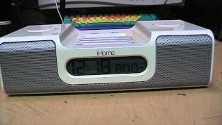 iHome Not iCrap iH5 clock radio iPod dock