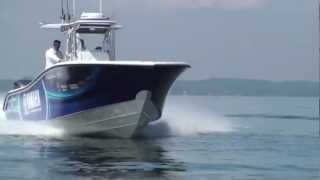 36' Yellowfin running at Bay Bridge