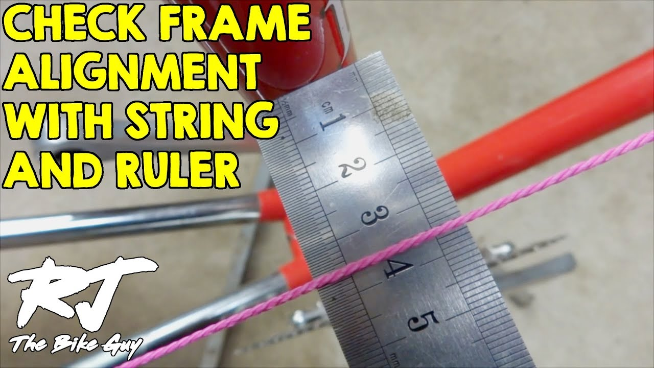 checking bike frame alignment with string youtube