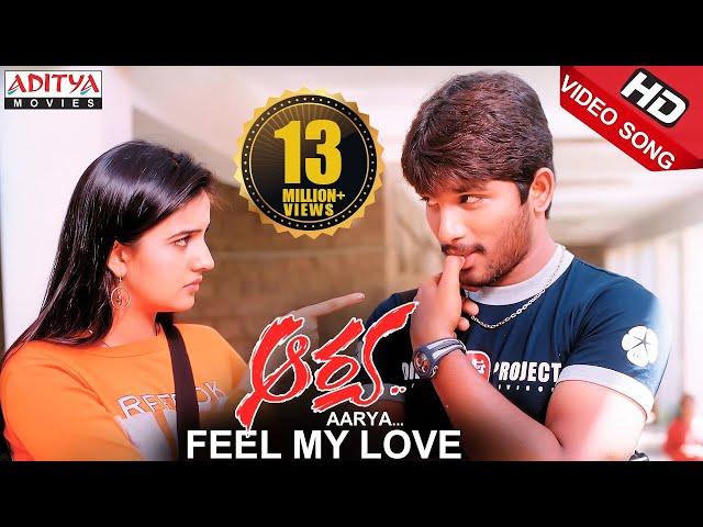 Feel My Love Video Song ||  Aarya Video Songs ||  Allu Arjun, Anuradha Mehta