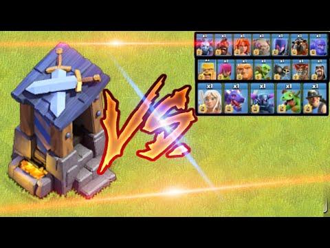 Max Lvl 8 Guard Post Vs All Troops clash Of Clash