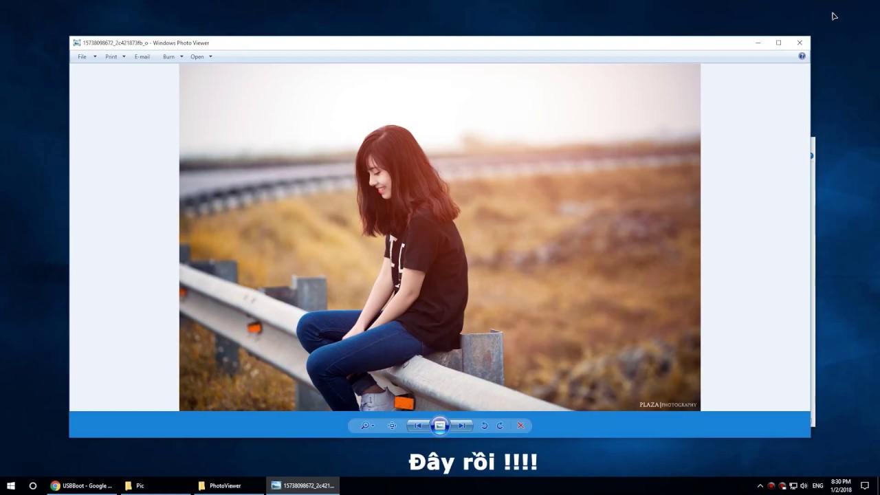 Mở lại Windows Photo Viewer trên Windows 10
