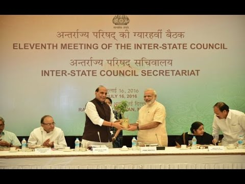 PM Modi inaugurates the 11th meeting of the Inter-State Council in New Delhi