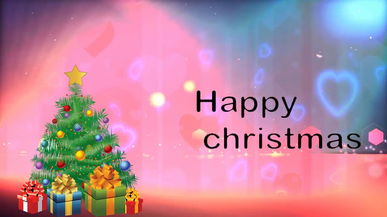 Happy Christmas Wishes Animation Video - YouTube