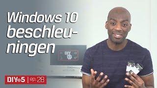 Windows 10 beschleuningen - Tipps und Tricks zum Laptop schneller machen - Kingston DIY in 5