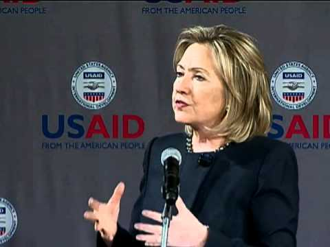 Secretary Clinton and USAID Administrator Shah Discuss the QDDR at USAID