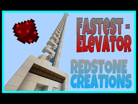 Fastest Elevator In Mcpe 0 14 3 Mcpe Redstone Creations