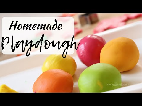 HOMEMADE NON-TOXIC PLAYDOUGH Recipe For Babies/Toddlers And Kids | DIY Playdoh