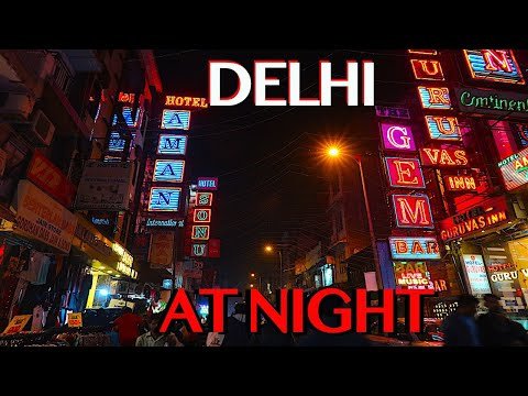 Delhi NIGHTLIFE | Exploring Main Bazaar At Night | Paharganj Walking Tour | Delhi Railway Station