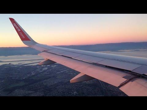 Spectacular Sunrise Landing of Spirit Airlines Airbus A320 in Oakland International Airport (OAK)