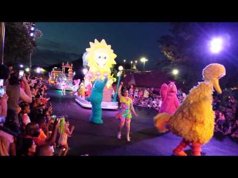 Neighborhood Street Party Night Parade at Sesame Place