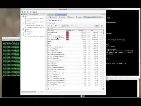 Using jvisualvm to find Heap Problems