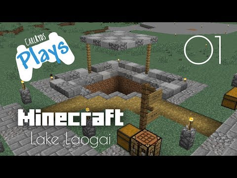 Lake Laogai | CarlRyds plays Minecraft | 1 - Starting the adventure by mining for resources