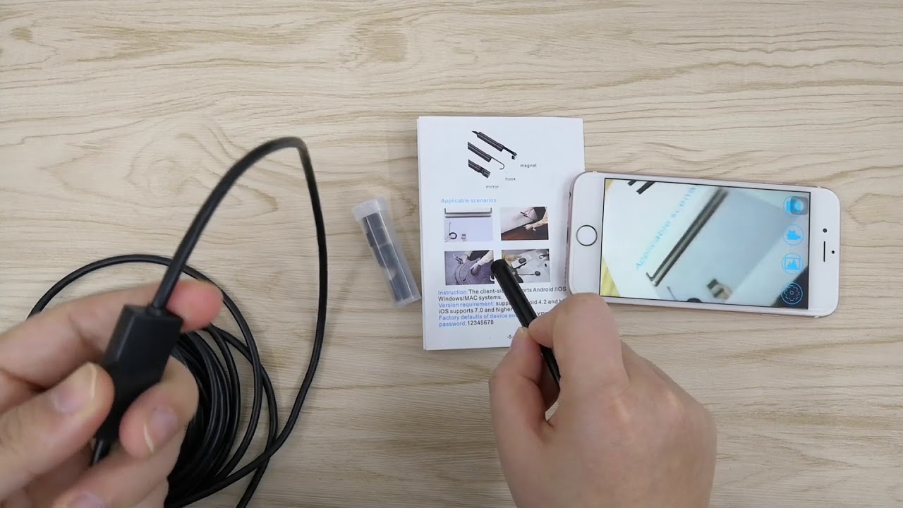 Top New 8LED Wireless Endoscope WiFi Borescope Inspection HD 1200P Camera  Waterproof