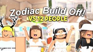 MEGA Zodiac Sign Build Off! VS 12 FANS! | Roblox Bloxburg