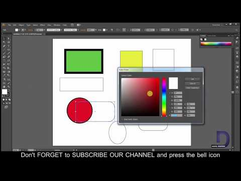 Adobe illustrator tutorial : How to create a square,circle, in illustrator/illustrator shapes