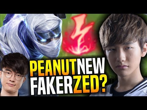 Peanut Wants to Be a Zed Like Faker! - SKT T1 Peanut Plays Zed with New Runes ft Faker Preseason 8!
