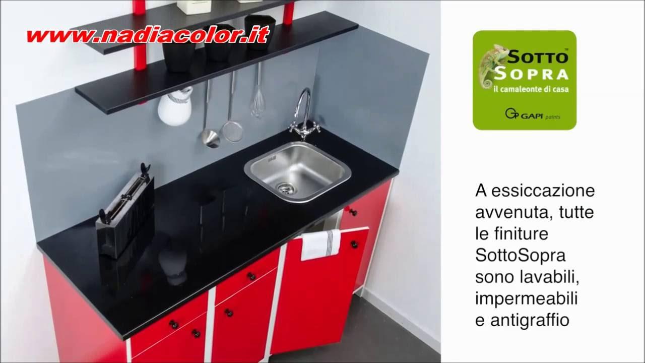 Cambiare colore ai mobili in laminato della cucina - YouTube