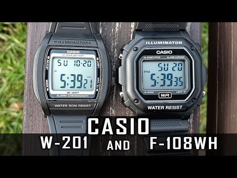 2 inexpensive Casio watches: Casio W-201 and Casio F-108WH review #217