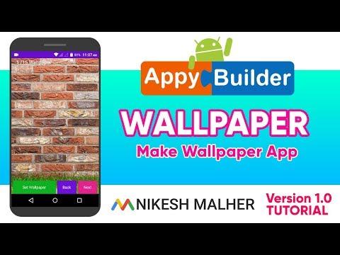 Repeat Make Professional Wallpaper App In AppyBuilder